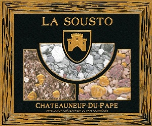 Etiquette LA SOUSTO - AOC Châteauneuf-du-Pape